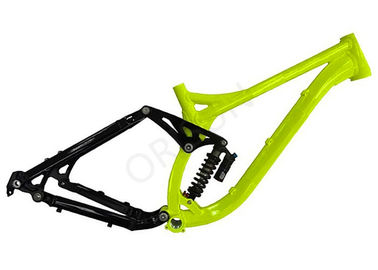 Cina 26 Inch Full Suspension Mountain Bike Frame 200mm Travel Downhill / Freeride pemasok