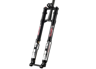 Cina Downhill Suspension Custom Bike Forks Hitam Dual - Crown Inverted 8 Inch Distributor